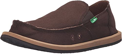 Sanuk Men's Hemp Sidewalk Surfernegro8 M (8 D(M) US   41 EUR, marrón)