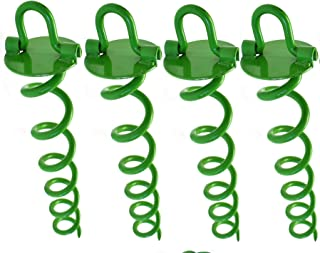 Ashman 16 Inch Spiral Ground Anchor Green Color - Ideal for Securing Animals, Tents, Canopies, Sheds, Car Ports, Swing Sets
