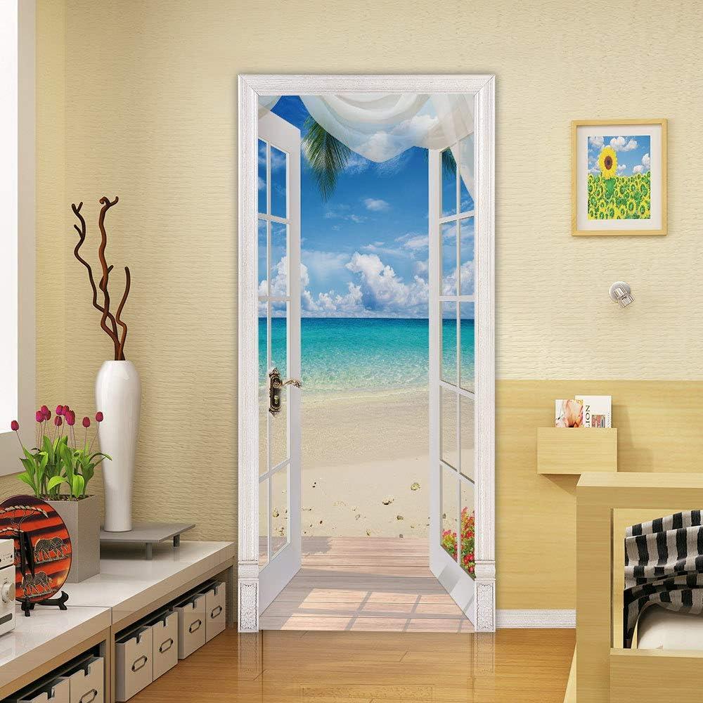 Abstract Vortex Wall Decal Door Mural Home Decor Door Sticker Door Wallpaper Door Covering Sticker Modern Abstract Door Wall Paper