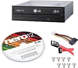 LG Internal 24x Super Multi with M-DISC Support DVD Burner (GH24NSC0B) Bundle with Nero 12 Essentials Burning Software + C...