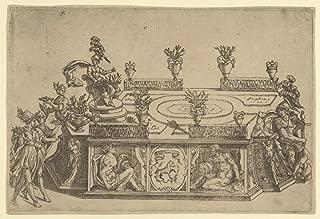 Historic Pictoric Fine Art Print - Possibly by Cherubino Alberti (Zaccaria Mattia) - Triumphal car from The Marriage of Ferdinand de' Medici and Christine of Lorraine - Vintage Wall Art - 24in x 16in