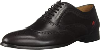 MARC JOSEPH NEW YORK Mens Leather Madison Lace-Up Oxford, Wine