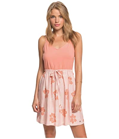 Roxy Moon Mouth Strappy Dress (Silver Pink Philly) Women