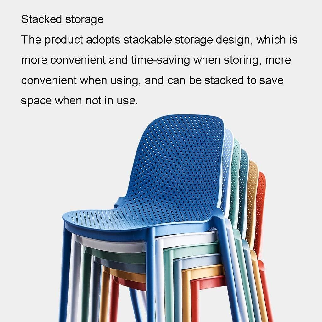 Chaise Nordic Leisure Fauteuil Accueil Moderne Minimaliste Informatique en Plastique Fauteuil (Color : F) E