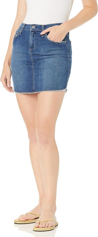 James Jeans Women's Daisy Mid Length Cut-Off Skirt in Retrospect