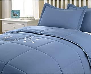 Stayclean Water & Stain Resistant Comforter Mini Set, King, Smoke Blue