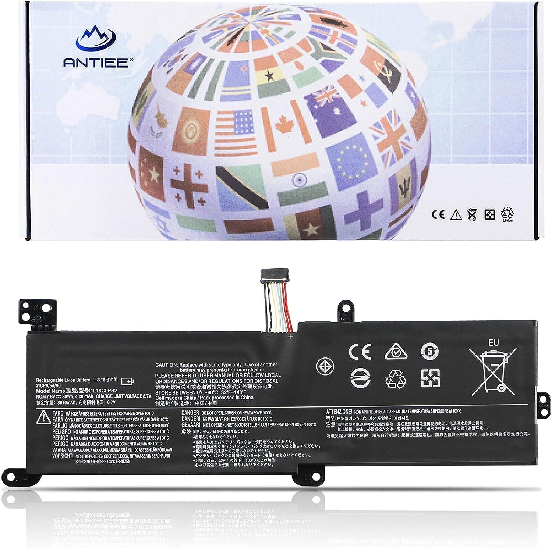 ANTIEE L16C2PB2 Battery for Lenovo IdeaPad 320-15IAP 320-15IKB 320-17IKB 320-15ABR 320-15ISK 330-15IKB 520-15IKB S145-15IWL S145-15IIL S145-15AST S145-14IIL S145-14IWL V145-15AST L16L2PB2 L16L2PB1