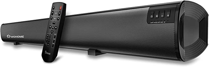 Soundbar WOHOME tv Sound Bar Wireless Bluetooth Home Theater Surround Speaker System with..