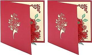 Gind Carte Pop-up, Carte d'anniversaire Traditionnelle Durable Faite à Main pour Les Invitations de Mariage pour Les Invit...