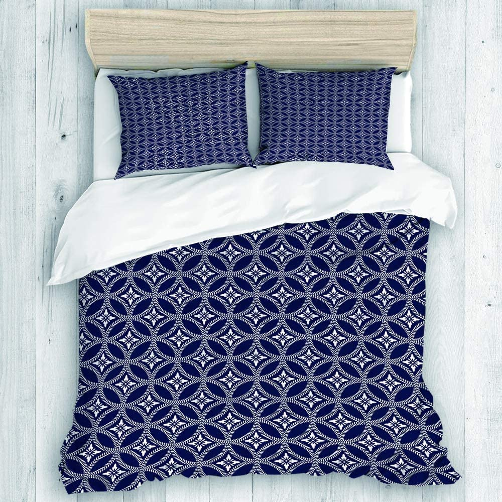 Milwaukee Mall EMYPCH 3 Piece Duvet Cover Set Inspi - King Eastern Culture Size Sacramento Mall