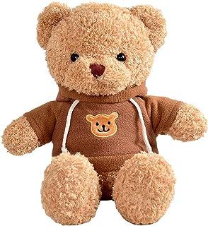 Tiiyar ぬいぐるみ くまの人気ベア 可愛い熊 プレミアム テディベア (ブラウン, 38cm)