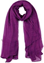 uxcell Women Lightweight Summer Scarves with Solid Color Soft Long Shawl