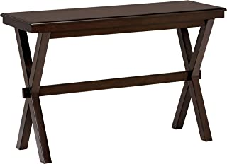 Ravenna Home Flush Mount Wood Cross Console Table, 15.75