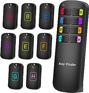 【最新】キーファインダー Key finder 探し物発見器 忘れ物探知機 落し物防止探す アラーム の置き忘れ 鍵 紛失防止 音の出る キーホルダー 使用便利 (8in1) 操作簡単 CR2032のボタン電池8つ付き 小型 子供 両親 プレゼントに最適
