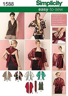 Simplicity Creative Patterns 1588 Kimono Jacket and Wrap Size XS-XXL, A (X-Small-Small-Medium-Large-X-Large-XX-Large)