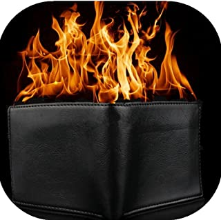 flaming wallet lighter