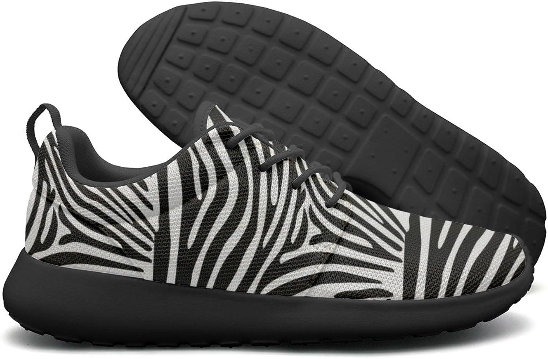 ERSER White and Dark Zebra Stripes Free Running shoes Women