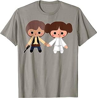 Han Solo Princess Leia Cute Cartoon Style T-Shirt