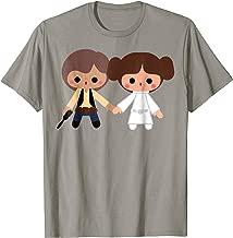Star Wars Han Solo Princess Leia Cute Cartoon Style T-Shirt
