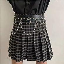 SSMDYLYM Dames sexy riem riem ketting JK verstelbare PU dans rok jeans taille ketting kleding accessoires (Color : A, Size...