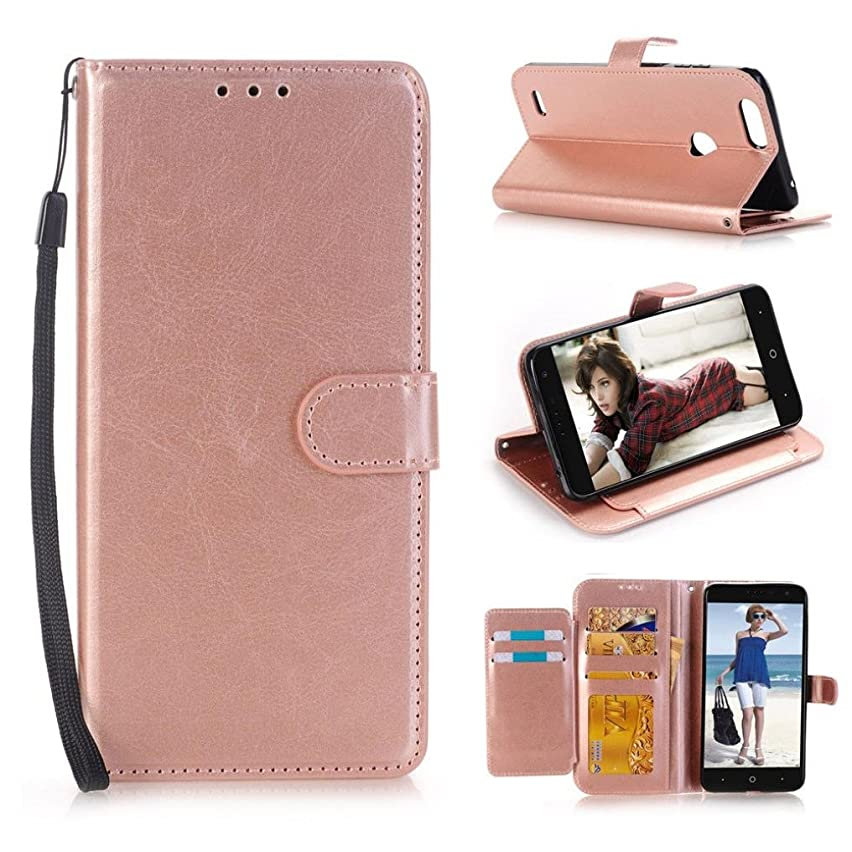 Fashion Simple Creative For ZTE Sequoia Z982/Blade Z MAX/ Zmax Pro 2,Upara Wallet Flip Case Cover With Card Slots And Stand