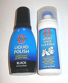 Shoe Care Set - Sport Shoe Cleaner and Black Liquid Polish