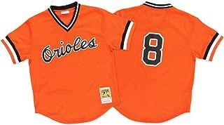 Mitchell & Ness Cal Ripken Orange Baltimore Orioles Authentic Mesh Batting Practice Jersey