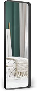 """Upland Oaks Large Full Length Body Mirror for Floor & Wall in Bedroom - Metal Frame - Big & Tall Long Mirror for Leaning - Full Length Wall Mirror Size 65"""" x 21"""" (Black, Recessed)"""