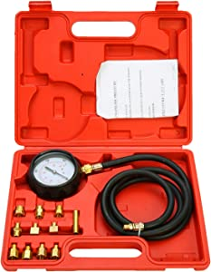 FreeTec Car Truck Diesel Petrol Wave Box Oil Pressure Meter Gauge Tester Tool Kit Set