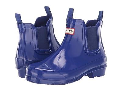 Hunter Kids Chelsea Gloss Rain Boots (Little Kid/Big Kid) (Electric Storm) Kids Shoes