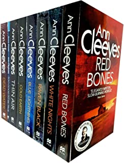 Ann Cleeves Shetland Series Collection 8 Books Set (Book 1-8) (Blue Lightning, Raven Black, White Nights, Red Bones, Cold Earth, Thin Air, Dead Water, Too Good To Be True)