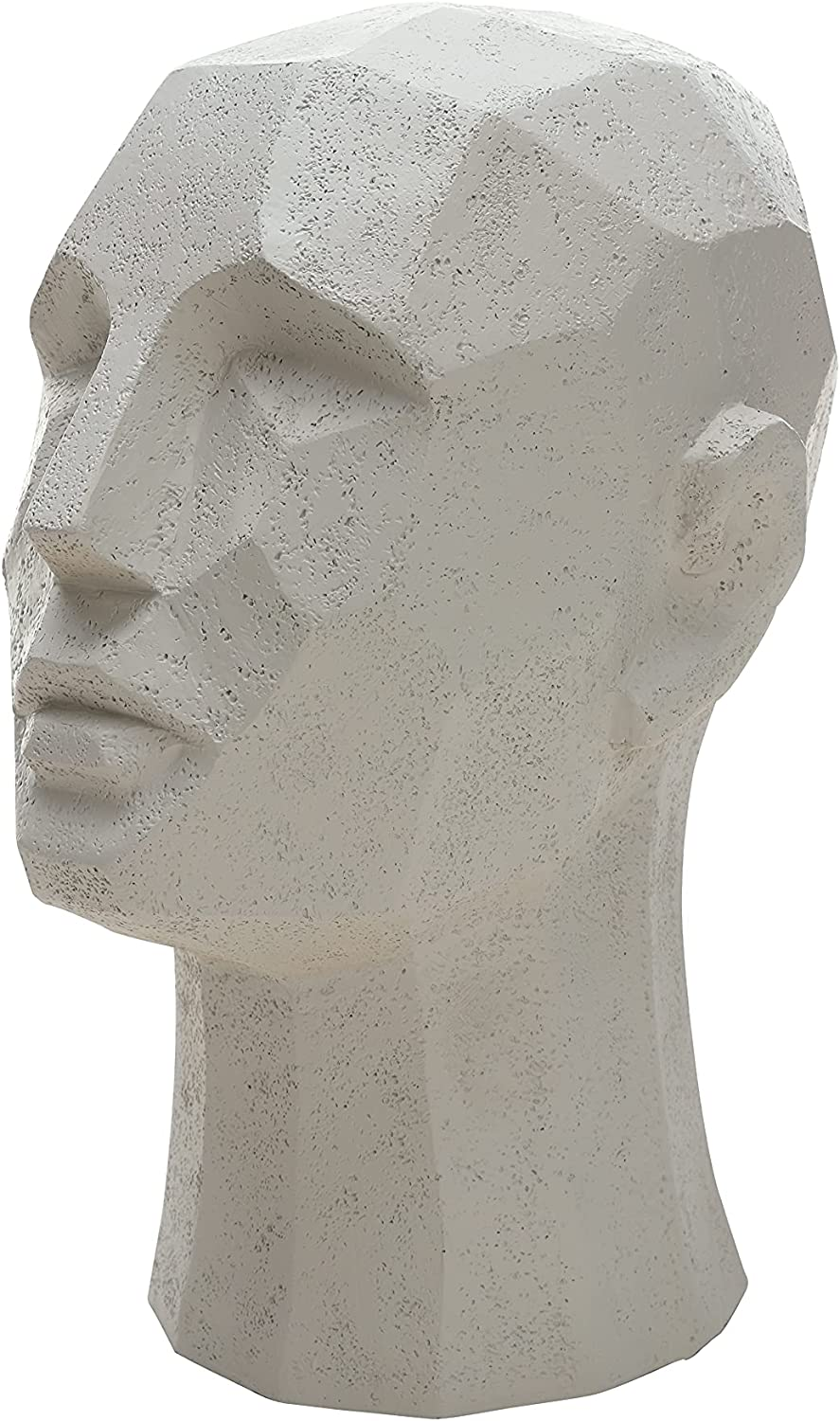 DN DECONATION Gray Man Head Statue, Polyresin Abstract Head Sculpture, Modern Shelf Decoration, Large Figurine Table Accent for Office Home Decor, Unique Gift