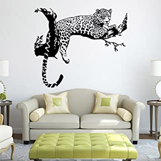 Black African Leopard Wall Decal Removable Mural Wall Stickers for Home Decor