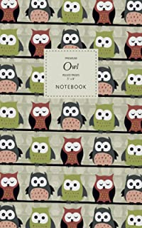 Owl Notebook - Ruled Pages - 5x8 - Premium: (Autumn Edition) Bird of Prey Notebook 96 ruled/lined pages (5x8 inches / 12.7...