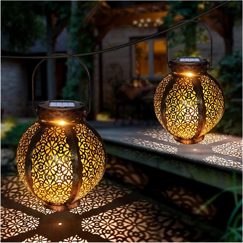 YCZDG Hanging Solar Bargain sale Lanterns Retro with 25% OFF Lights Hand Hollow