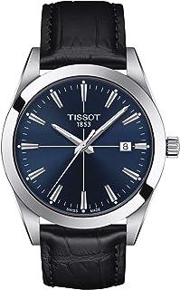 Tissot mens Gentleman Quartz Stainless Steel Dress Watch Black T1274101604101