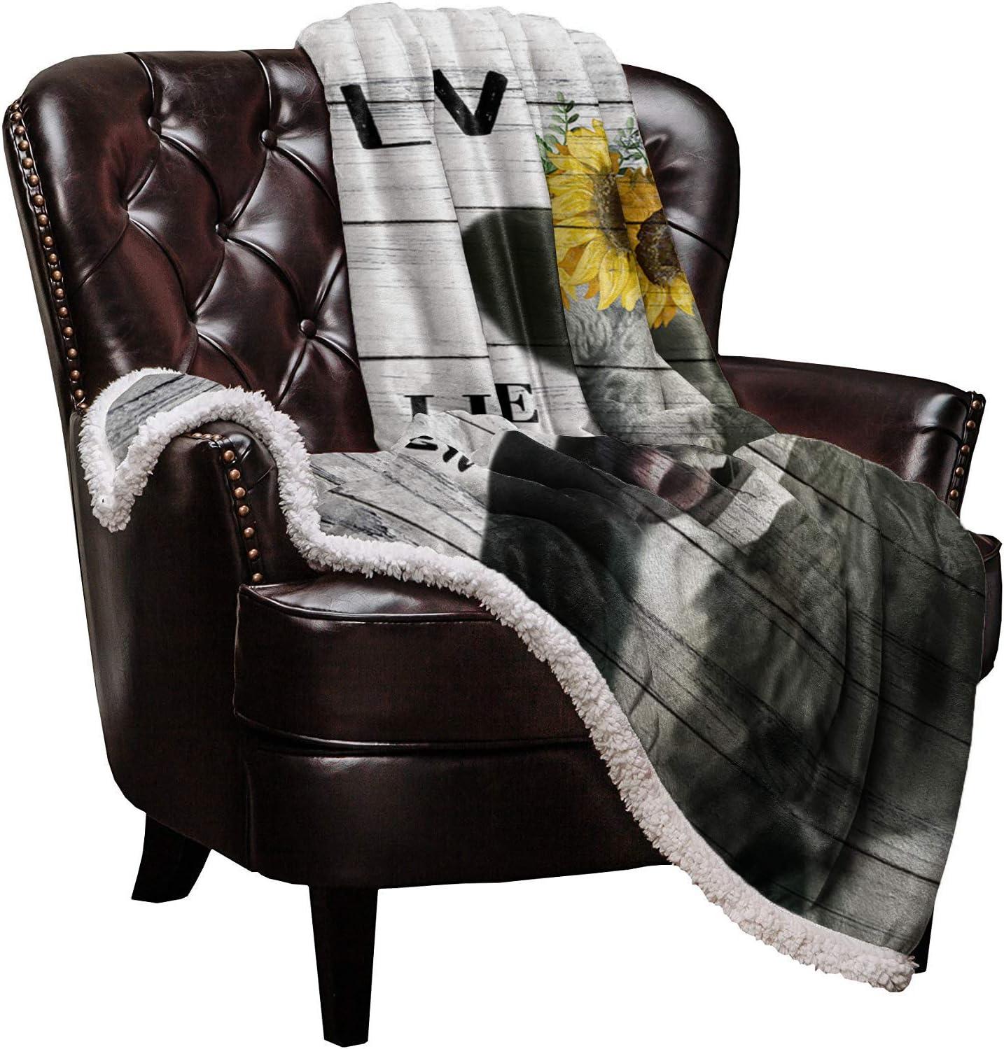 Max 68% OFF Max 88% OFF Sherpa Fleece Throw Blanket Smile Farmhou Cow Soft Warm Blankets