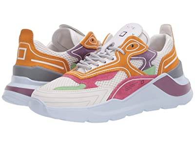 D.A.T.E. Fuga HF (White/Orange) Women