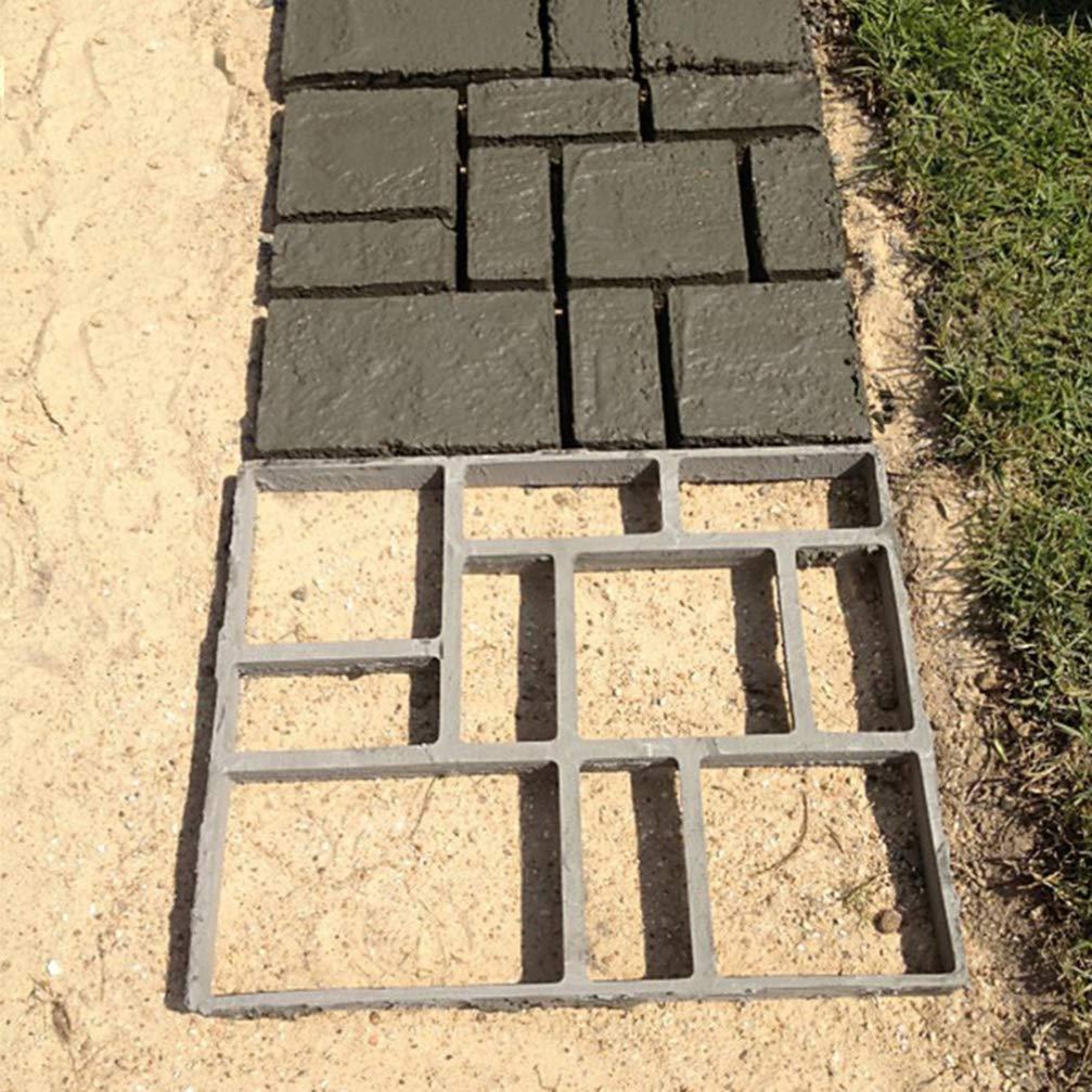Yarnow 45X40 Cm / 18X16 Pulgadas Molde de Pavimento de Ladrillo de Pavimentación de Bricolaje Molde de Concreto de Pavimentación para Jardín Césped Pathmate Molde de Piedra Molde de Caminar: Amazon.es: Jardín