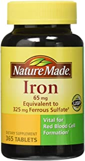 Nature Made Iron 65 mg, 365 Tablets
