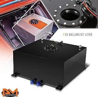 15 Gallon Lightweight Aluminum Coated Fuel Cell/Gas Tank+Level Sender Black Cap
