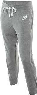 Nike Women's Gym Classic Sport Casual Capri Pants-Heather Grey-XL