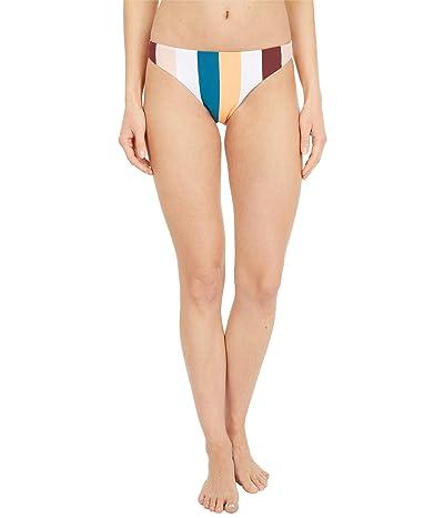 Roxy Holiday Jungle Moderate Bikini Bottoms (Andorra Warm Stripes) Women