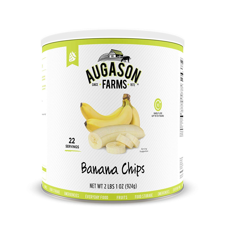 Regular dealer Augason Farms Banana Ultra-Cheap Deals Chips 2 lbs 1 Can 10 oz of Pack No.