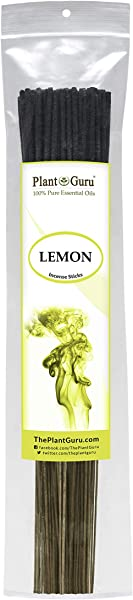 Plant Guru Lemon Incense Sticks 185 Grams In Each Bundle 85 To 100 Premium Smooth And Clean Each Stick Is 10 5 Inches Long Burn Time Is 45 To 60 Minutes Each