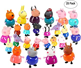 New 25 Pcs Peppa Pig Different Best Model Figure Toys For