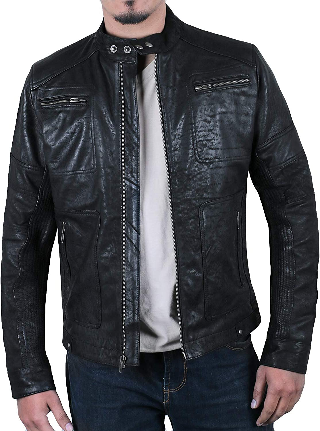 Laverapelle Men's Genuine Lambskin Jacket Black New Max 76% OFF products world's highest quality popular Racer Leather