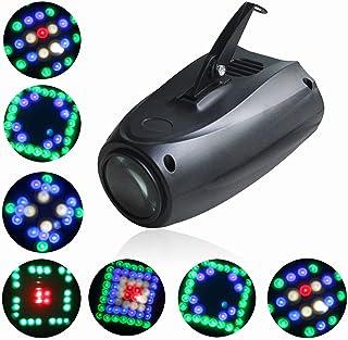 UKing Lampe de Scène 20W RGBW 64 Led Image Projecteur Petite Dirigeable Lumières Commande Vocale Effet Éclairage pour Anni...