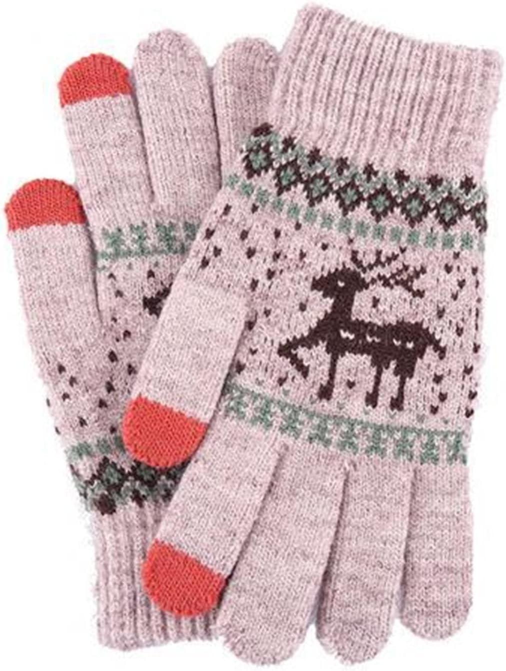 LANREN Men Women Full Finger Touch Screen Thick Warm Gloves (Color : 5)
