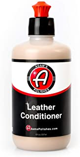 Adam's Leather & Interior Conditioner 8oz - Conditions Leather, Vinyl, and Plastic Interior Surfaces - Contains Premium UV Blockers for UV 65 Protection - Long Lasting Protection (8 oz)
